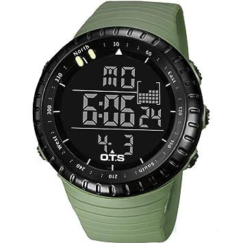 LE Relojes Hombre/Deporte, Cronómetro Multifuncional/Digital Multifuncional Multifuncional para Buceo acuático para Jóvenes Impermeable,C: Amazon.es: ...