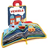 My Quiet Book and Soft Cloth Books for Babies,Sensory Identify and Traffic Tool Cognition Cloth Book, Life Skills Early…