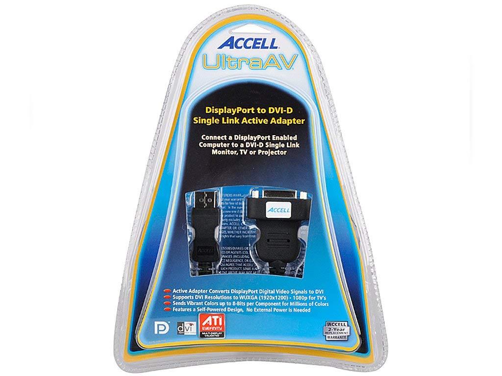 Accell UltraAV DisplayPort to DVI-D Active Single Link Adapter B087B-005B-2