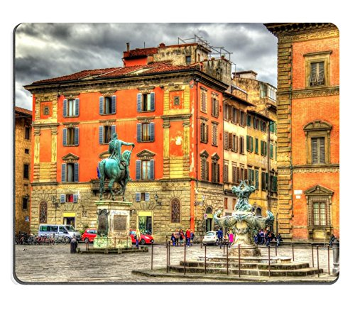 Marble Column Italian - Luxlady Mousepad Santissima Annunziata square in Florence Italy IMAGE 38960239
