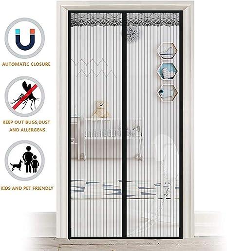ZHZW Cortina Mosquitera Magnética para Puertas, Corredera Cortina Mosquitera Magnética, Insectos Mosquito Door Screen Cierre El Automática,Negro,70x160cm(28x63inch): Amazon.es: Hogar