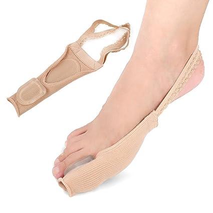 Blue Vessel Mujer Calcetines separador Calcetines chanclas Pedicura dedos Corrección puntas Protector para los dedos S