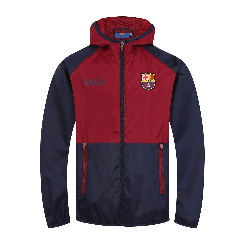 FC Barcelona - Chaqueta cortavientos oficial - Para niño - Impermeable - Estilo retro: Amazon.es: Ropa y accesorios