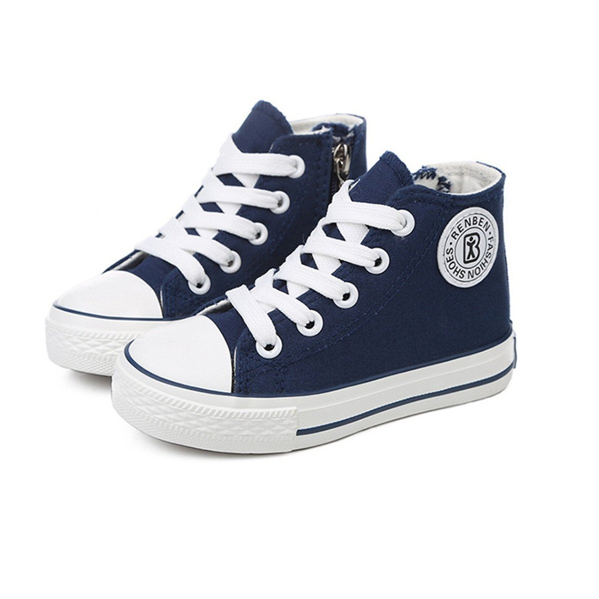 GZYIBU Kids Boys Girls Canvas High Top Gym Shoes Trainers Sneakers Toddler  Little Kid  Big Kid   Blue  13 M US Little Kid