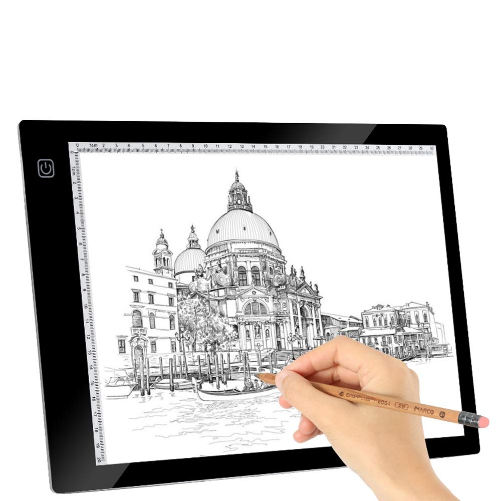 Drawing Light Box Copy Board Tracing Light Pad Ultra-Thin Dimmable Brightness Portable USB Power Tracer Light Box for Artists Drawing Sketching Animation Designing