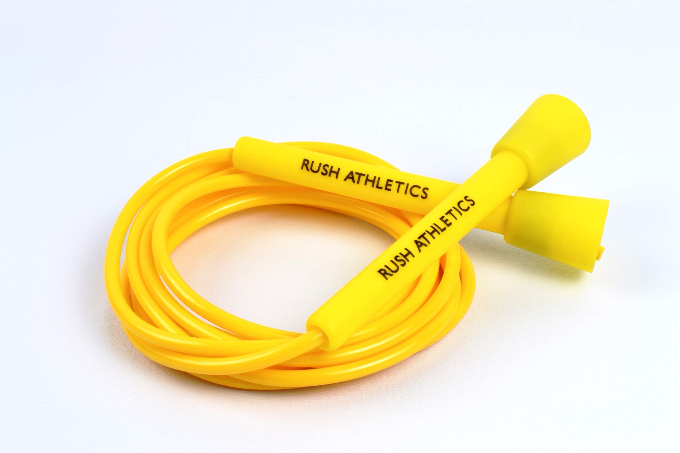RUSH ATHLETICS Speed Rope Yellow - Skipping Rope, Best for Boxing MMA Cardio Fitness Training - Speed - Adjustable 11ft Jump Rope Sold