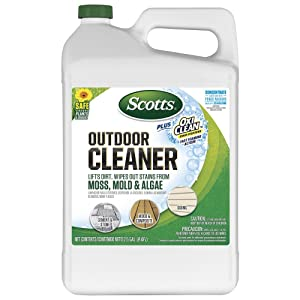 Scotts FBA 51501 Concentrate Plus Oxi Clean Outdoor Cleaner, 2.5 GAL, Brown
