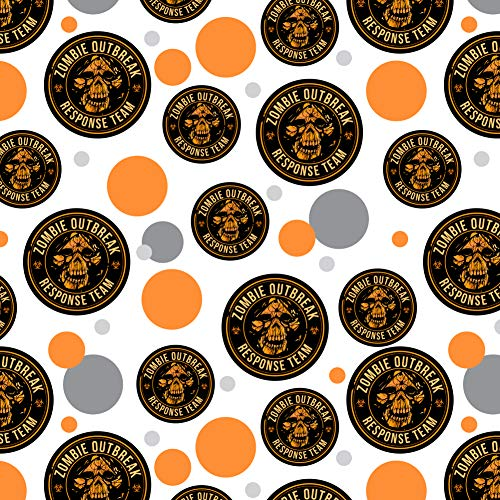 GRAPHICS & MORE Zombie Outbreak Response Team Skull Yellow Circle Premium Gift Wrap Wrapping Paper Roll ()
