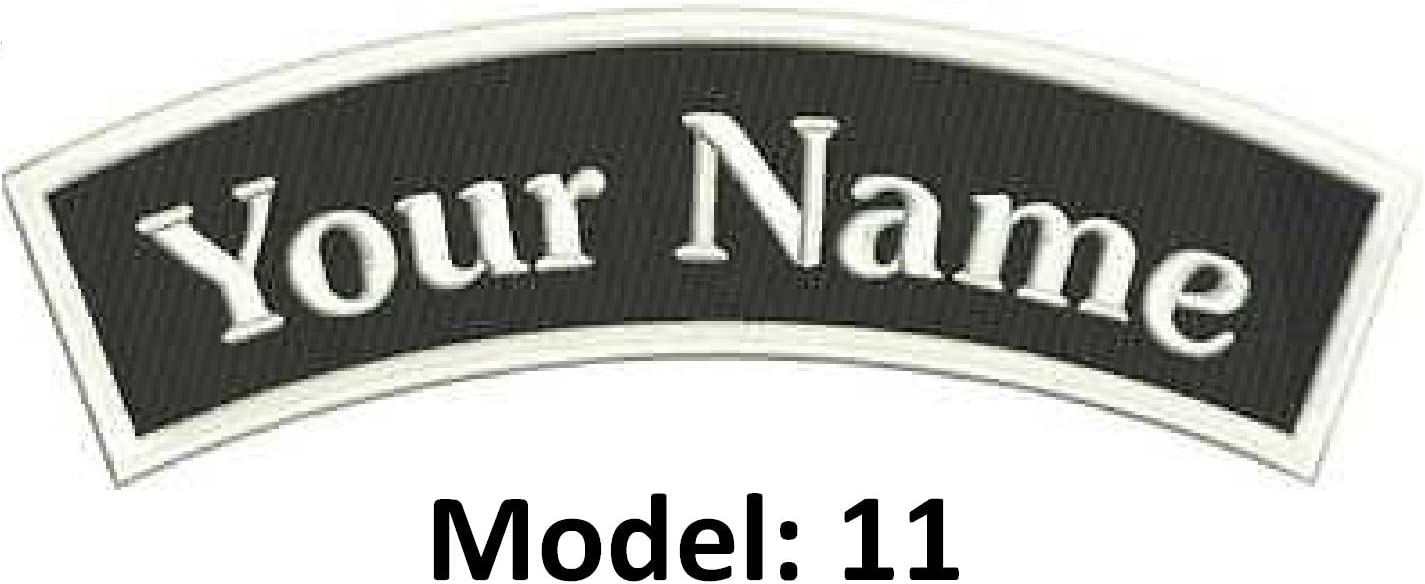 "Custom Embroidered 5/"" x 1/"" ID Name Tag Iron-On Patch White GLOW In DARK"