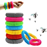 SAWYER 12 Pack Mosquito Repellent Bracelets, Reusable Plant-Based Oil and Waterproof Wrist Bands for Adults, Pets…
