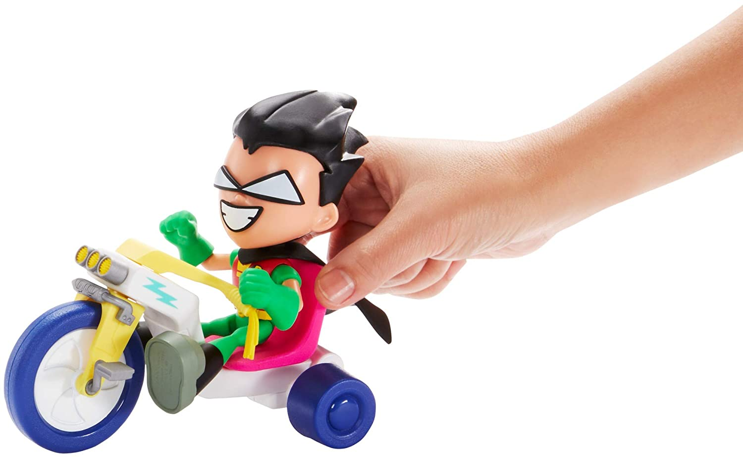 Teen Titans Go to The Movies Robin /& Time Cycle Figure /& Vehicle Mattel GBL61
