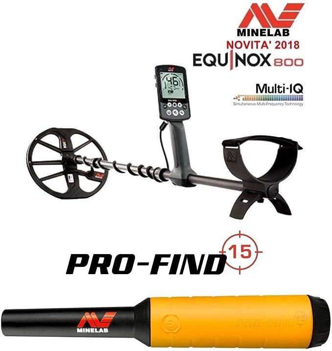 MINELAB - Detector de Metales MINELAB Equinox 800 + Pro-Find 15 ...