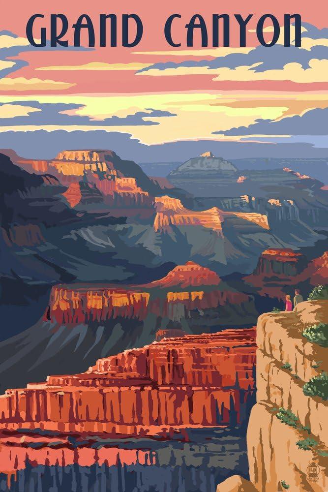 Art Deco Travel Posters Lovely  Retro Holiday Tourism Grand Canyon Arizona