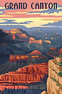 product image for Grand Canyon National Park, Arizona - Sunset View (12x18 Art Print, Wall Decor Travel Poster)