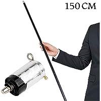 ZWIFEJIANQ Magic Pocket Staff Portable Martial Arts Metal Staff 110CM 150CM (Black, 150cm)