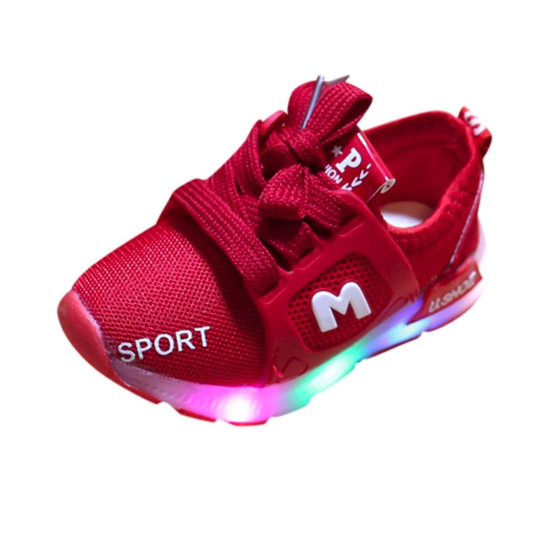 Led Light Outdoor Sport Sneaker, Minshao Toddler Baby Girs Boys Soft Luminous Shoes For 6 Months~6 Years old