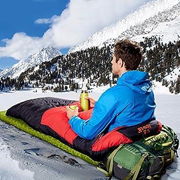 SUHAGN Saco de dormir Bolsa De Dormir De Pluma Ligera Acampar Al Aire Libre Para Adultos