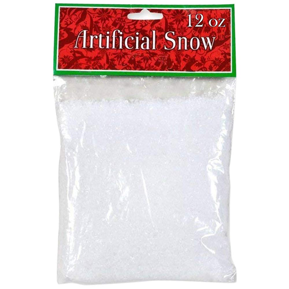 Gift Boutique 12 oz Fake Snow Artificial Plastic Snow for Christmas Tree Winter Village Decoration Crafts Ornaments
