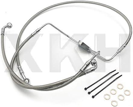 16 Burly Brand Cable//Brake Line Kit for Ape Hangers for Harley Davidson 1997-2003