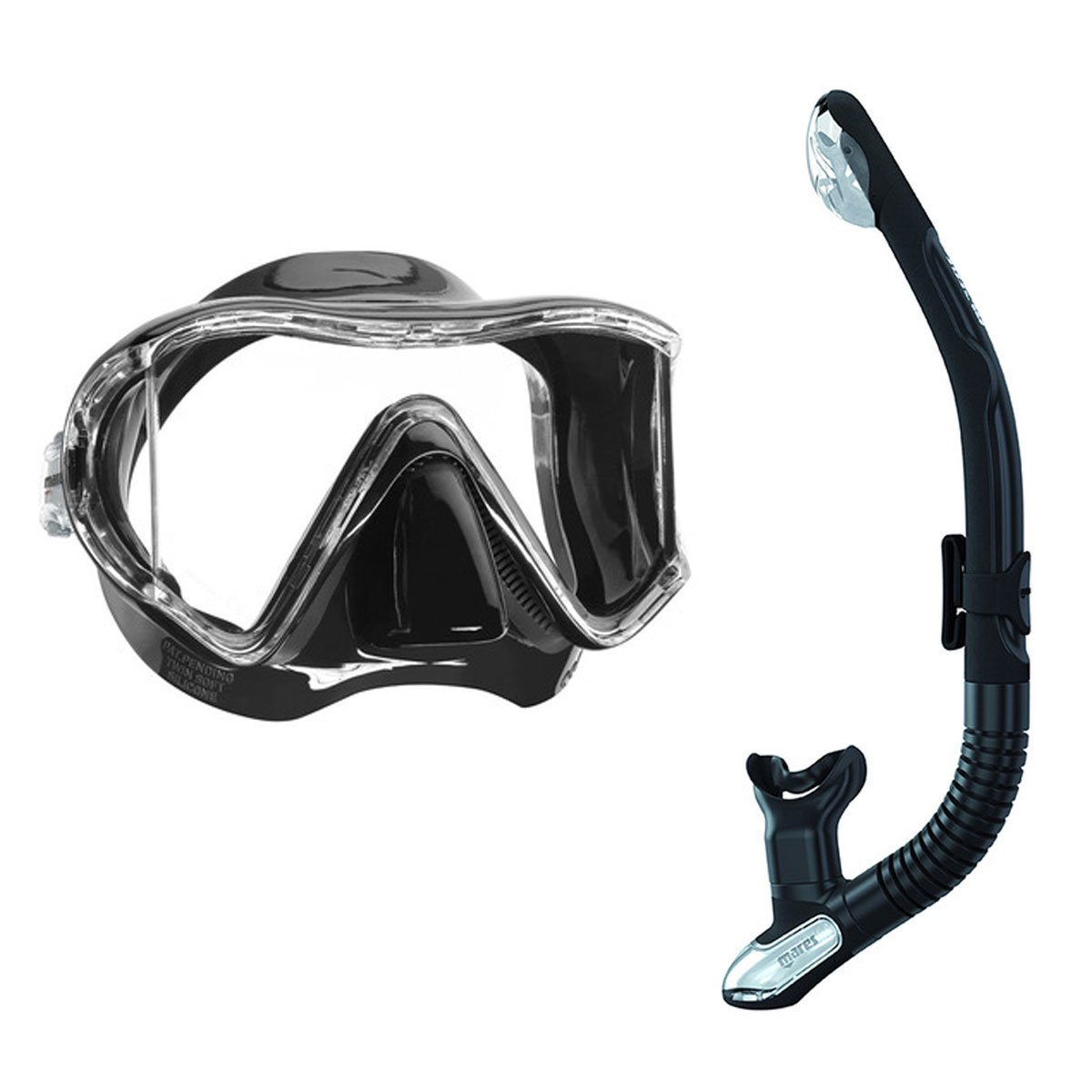 Ergo Dry Trockenschnorchel Mares i3 Einglasmaske Tauchermaske