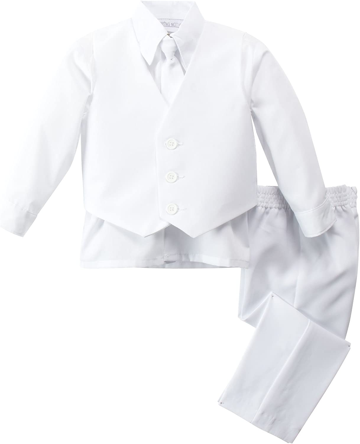 Spring Notion Baby Boys Modern Fit White Suit Set