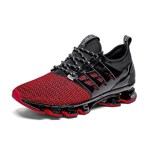 afc617c8b8c4c NEOKER Zapatillas Running Hombre Mujer Sneakers Calzado Deportivo Verano  Aire Libre y Deporte Gimnasia Respirable Negro Gris Rojo Verde 36-44  Amazon .es  ...