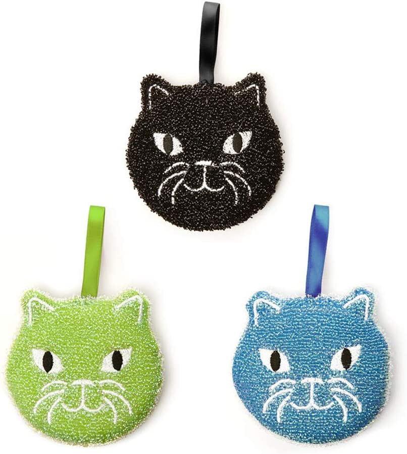 Amazon.com: Kikkerland Cat Sponges, Set of 3 (CU280): Arts, Crafts ...