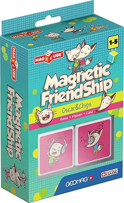 Geomag- Magnetic Friendship Bloque de construcción, Multicolor, 2 Piezas (105): Amazon.es: Juguetes y juegos