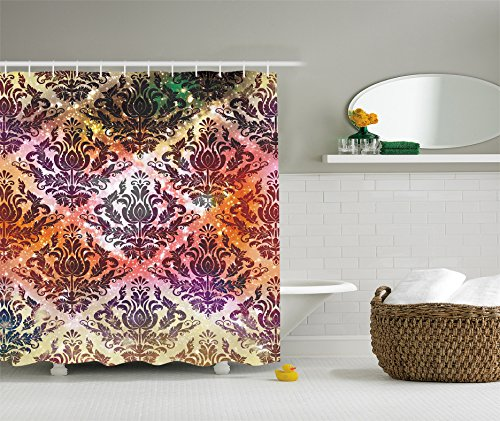purple and green shower curtains - 7