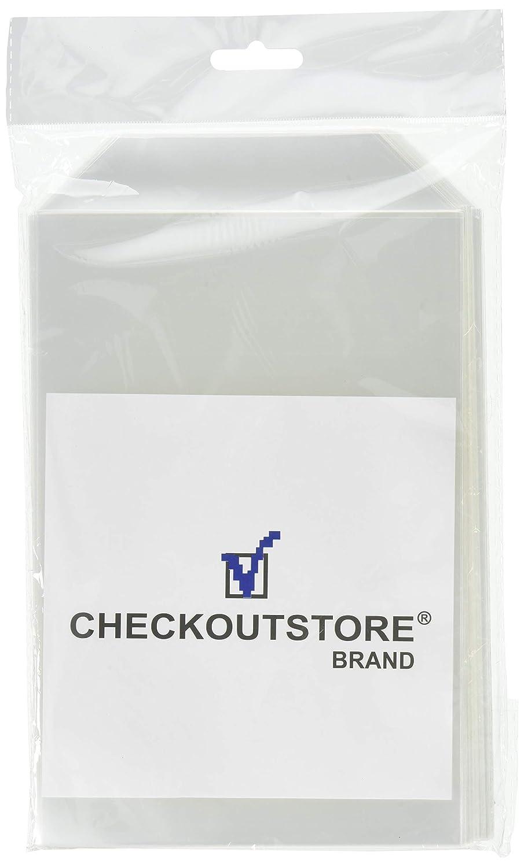100 CheckOutStore Clear Storage Pockets (5 5/8 x 8 1/2)