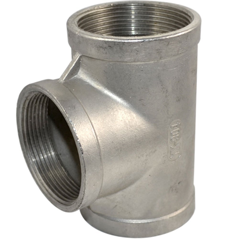 3 Way T Shaped Equal Tee Coupling 1/4' Female Thread Stainless Steel SS304 NPT Pipe Fitting Adapter LINGJUN