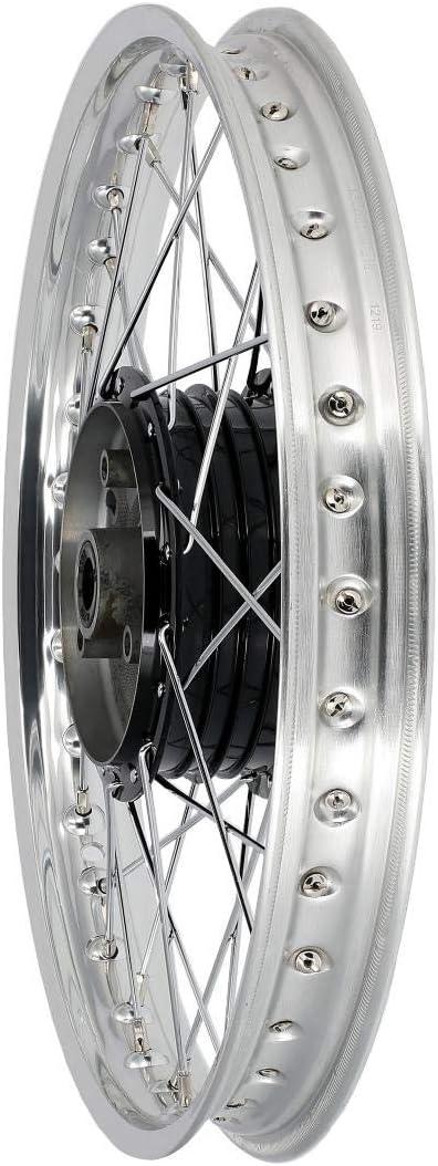 Mza Speichenrad 1 5 X 16 Alufelge Poliert Chromspeichen Nabe Schwarz Simson S50 S51 Kr51 Schwalbe Sr4 Auto