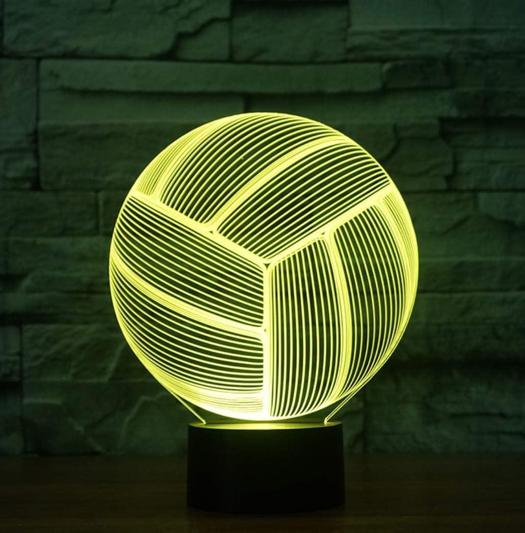 Led 3D Lampe Led 3D Lampe Optique Illusion Veilleuse T/él/écommande Tactile 40 Couleursdivers Articles De Sport De Basket-Ball De Style Football Style Romantique Slam Dunk