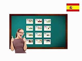 Carte illustrate educativi - Flashcard Lingua Spagnolo - Months of The Year Flashcards in Spanish - Size 4.13 × 5.83 inch = DIN A6 (105 x 148 mm)