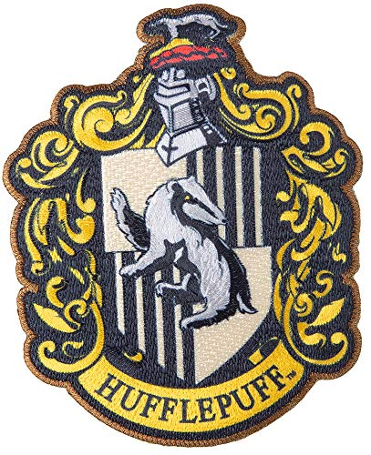 Simplicity 1932161001 Harry Potter Hufflepuff House Emblem Applique Clothing Iron On Patch, 3.5'' x 4.25'',