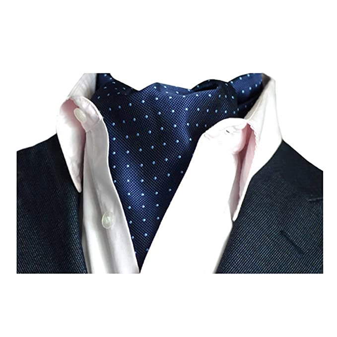 Pañuelo Hombre Jacquard Ascot Paisley Corbatas Vintage Cravat Chalina Banquete Fiesta