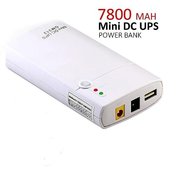 Inepo UPS GM312 unterbrechungsfreie Stromversorgung mit integriertem Li-Ion-Akku mit 7800 mAh Powerbank für Router, LED-Licht