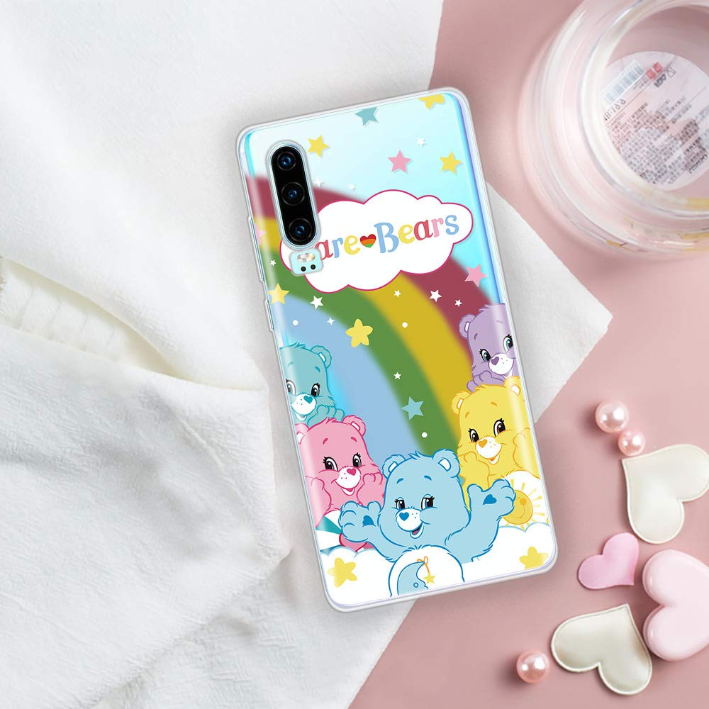 Miagon Clear Case for Huawei P30,Creative Cute Design Slim Soft Flexible TPU Back Cover Phone Case,Smile