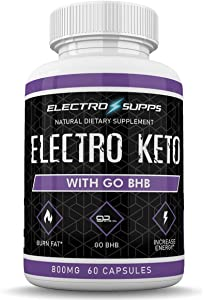 Electro Keto - Electro Supps - Natural Dietary Supplement - with go BHB - Burn Fat - Increase Energy - 1 Month Supply