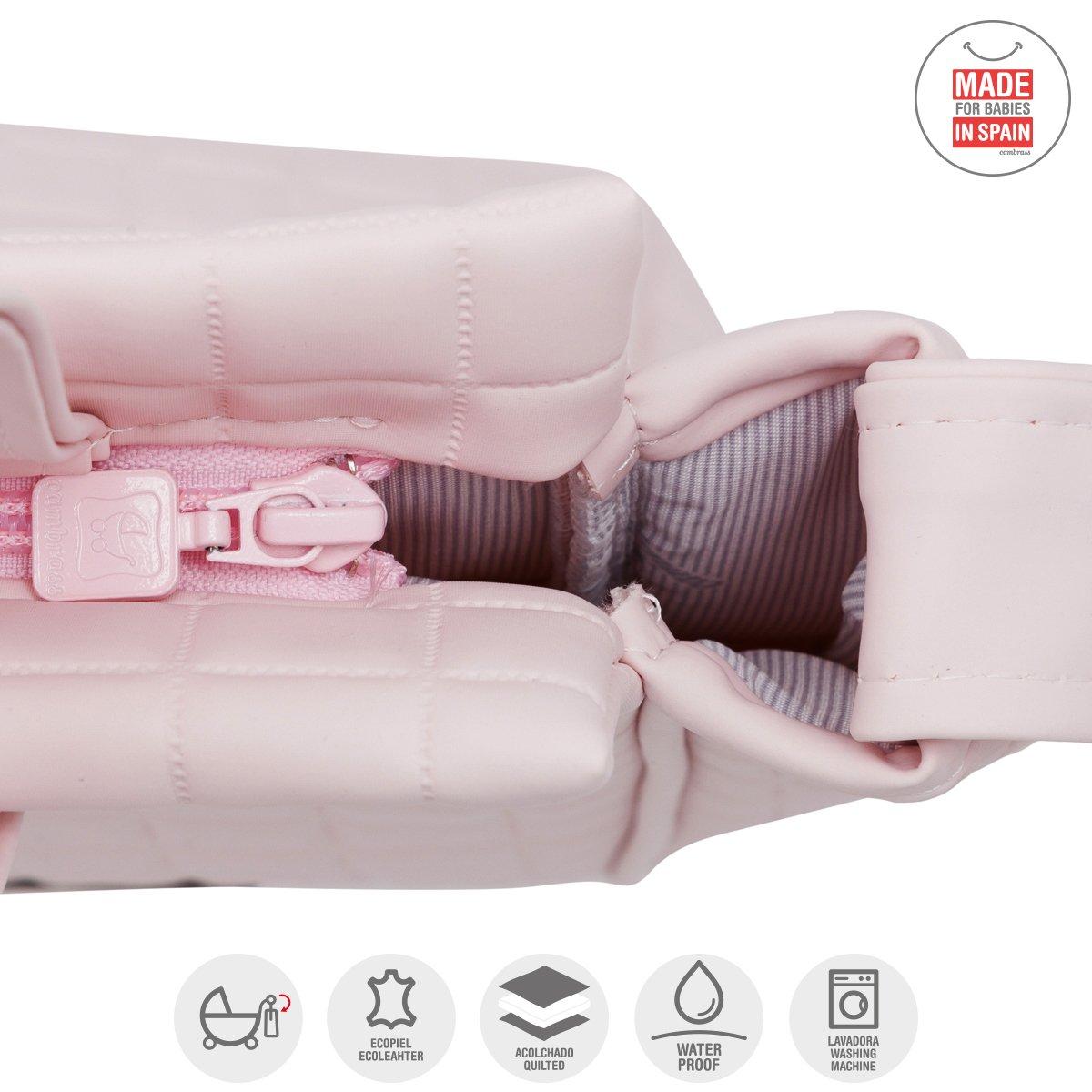 Bolso Panadera Gofre Rosa 13X40X33 Cm