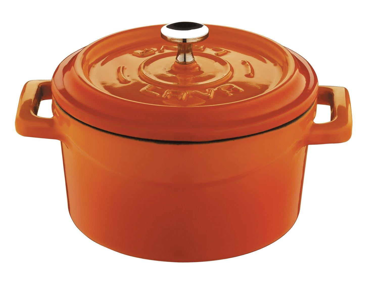 Lava Signature Enameled Cast-Iron Mini Dutch Oven - 12 ounce , Orange Spice