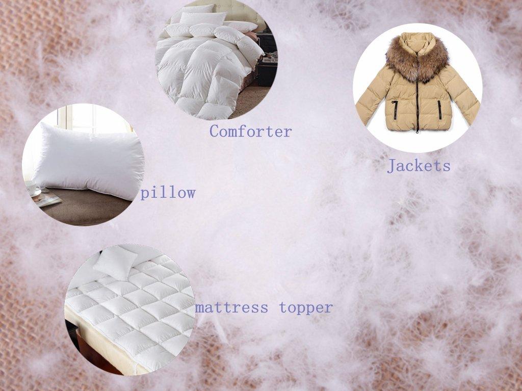 Ivie 1 lb Natural 100% Goose Down Filling for Pillow Jacket bulk down 900 fill power G-100