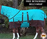 HILASON 1200D Waterproof Winter Horse Neckcover Blanket Belly Wrap