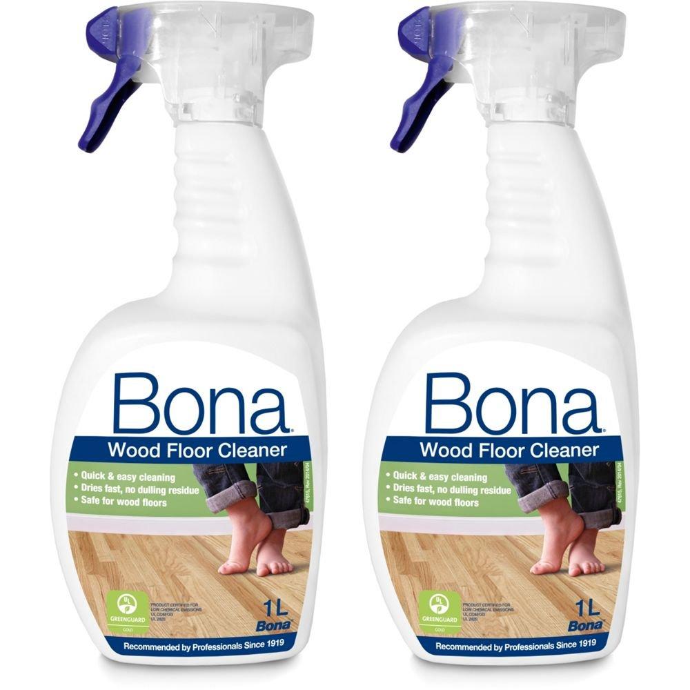 Bona Wood Floor Cleaner Spray 2 1L Set