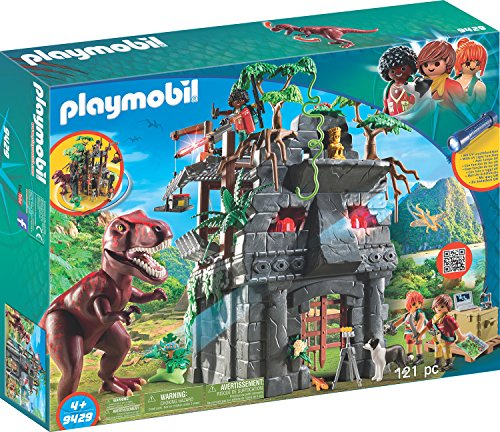(PLAYMOBIL Hidden Temple with T-Rex Building Set)