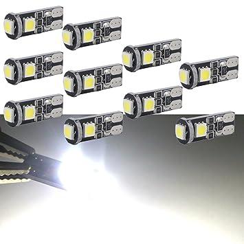 Biqing Bombilla led Coche Interior canbus t10 matriculas Coche luz indicadora: Amazon.es: Coche y moto