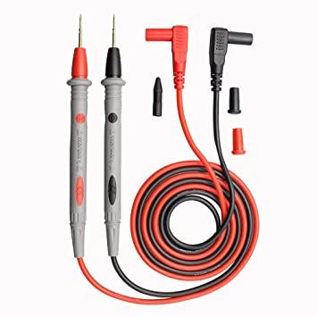 1000V 20A Multimeter Probe Ultra-sharp Gold-plated Probe Leads with Alligator Clips