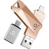 Memoria USB para iPhone 32GB Qarfee Pendrive USB 3.0 4 en 1 Memory Stick para Android iPad Computadoras Laptops…