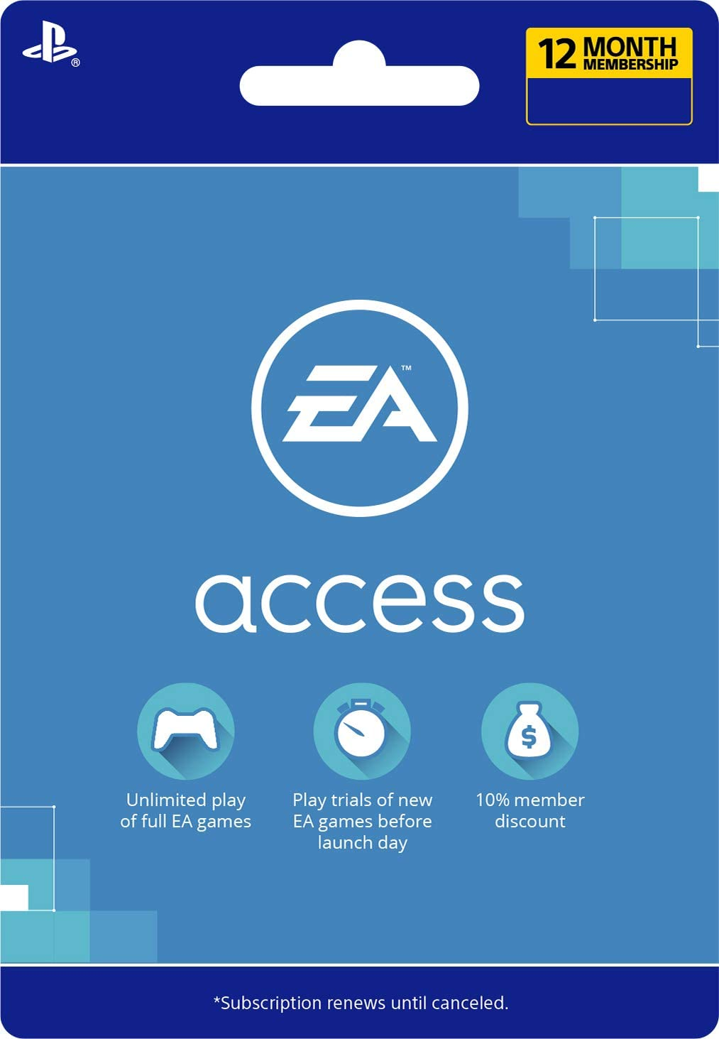 Amazon.com: EA Access 12 Months - [PS4 Digital Code]: Video ...