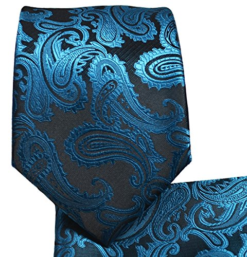 Paisley Pattern Necktie Set (Metallic ()
